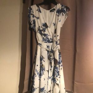 French countryside white floral dress (NWOT)